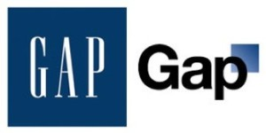 New and old Gap logos